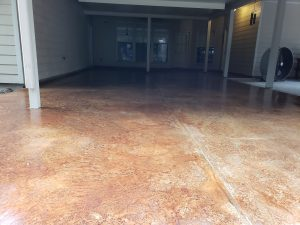 acid stained floors